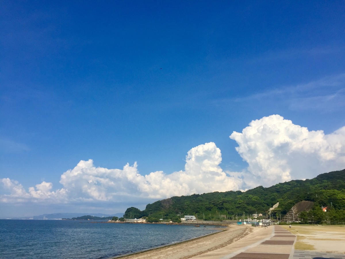 福岡、海の画像